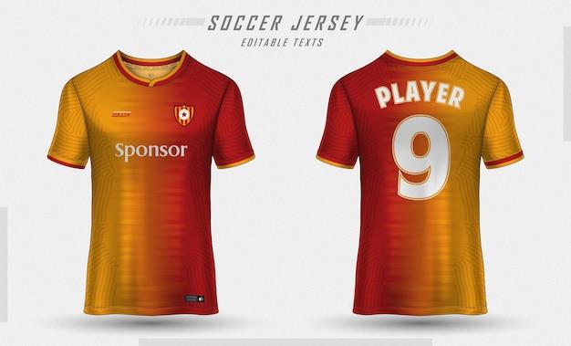 Modèle de maillot de football conception de t-shirt de sport