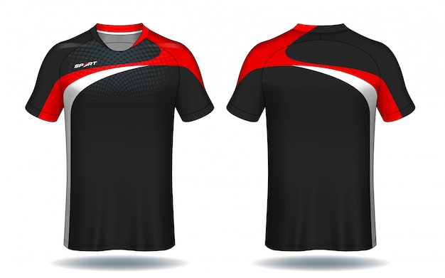 Modèle de maillot de football. conception de t-shirt de sport.