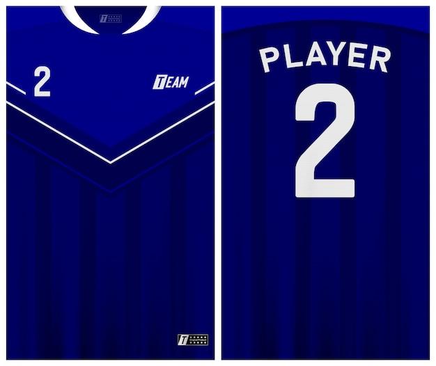 Modèle de maillot de football de couleur bleue