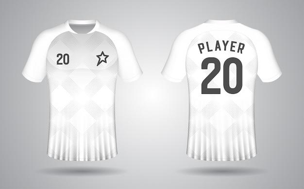 Modèle de maillot de football à manches courtes blanc