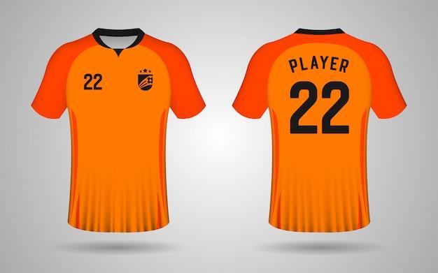 Modèle de maillot de football orange