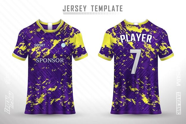 Modèle de maillot de football premium avec texture abstraite