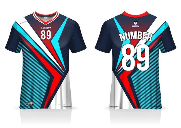 Modèle de maillot de football uniforme avant et arrière