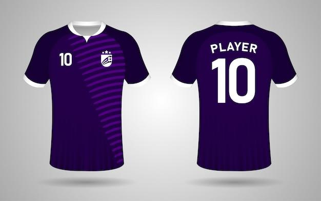 Modèle de maillot de football violet