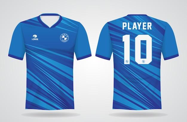 Modèle de maillot de sport bleu pour les uniformes d'équipe et la conception de t-shirt de football
