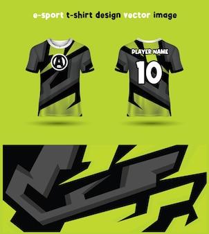 Modèle de maillot de t-shirt esports gaming