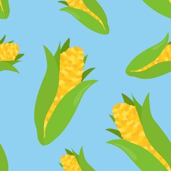 Modèle de maïs dessiné à la main coloré