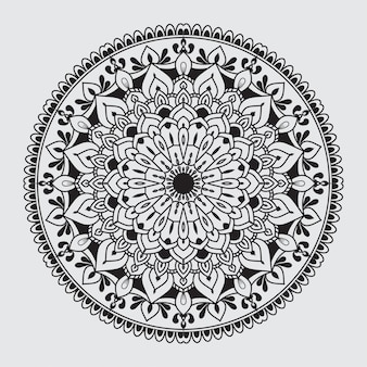 Modèle de mandala arabesque simple pour carte de mariage, invitation, flyer, brochure