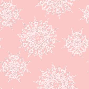 Modèle de mandala. illustration vectorielle de texture décorative ethnique dessinée à la main eps 10 pour votre conception.