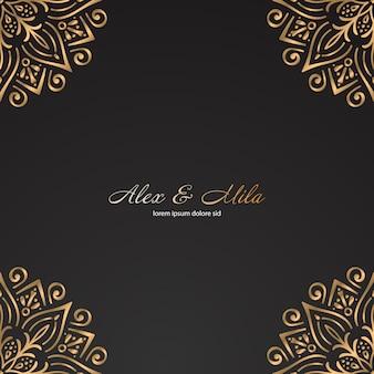 Modèle de mandala en or de luxe