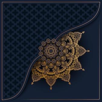 Modèle avec mandala ornement doré