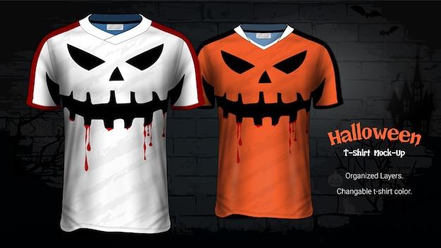 Modèle de maquette de costume de t-shirts de costume d'halloween