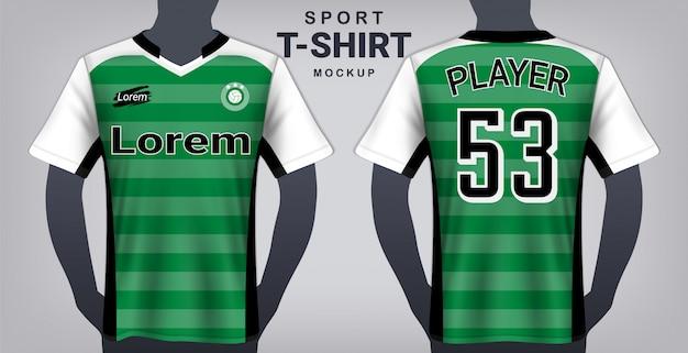 Modèle de maquette de maillot de football et de sport.