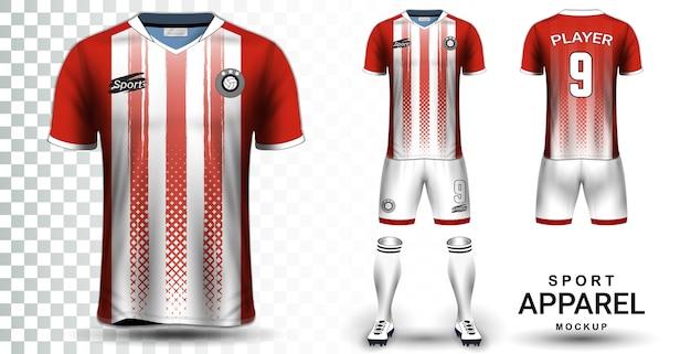 Modèle de maquette de présentation du maillot de football et du kit de football