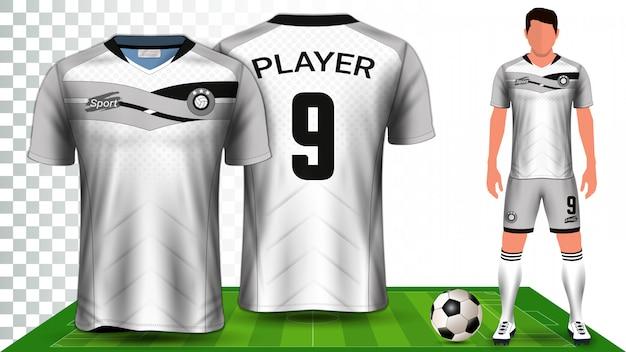 Modèle de maquette de présentation de kit de football