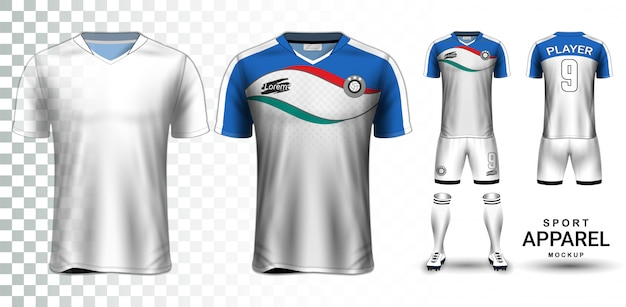 Modèle de maquette de présentation de maillot de football et kit de football