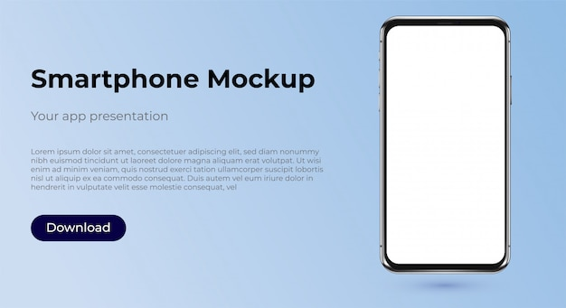 Modèle de maquette de smartphone pour la présentation de l'application
