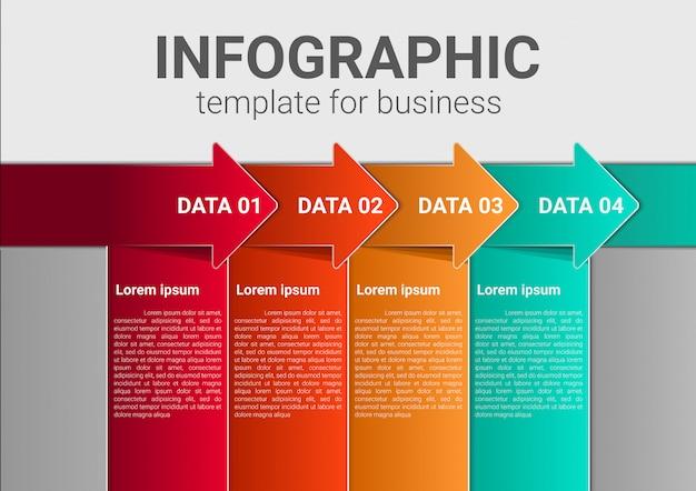 Modèle de marketing d'entreprise infographique