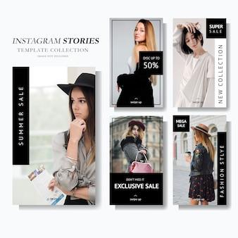 Modèle de marketing de l'histoire instagram