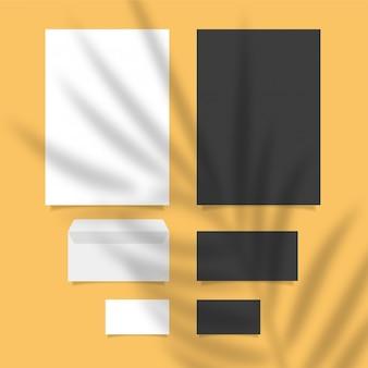 Modèle de marque de papeterie style épuré et moderne