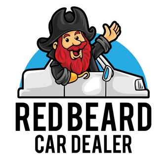 Modèle de mascotte de logo de magasin de concessionnaire automobile