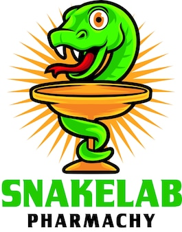 Modèle de mascotte de logo snake pharmachy