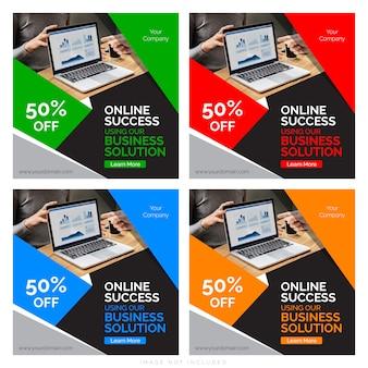 Modèle de média social de bannière de vente professionnel web