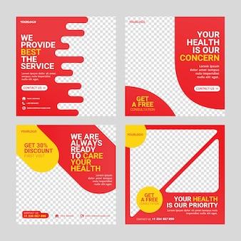 Modèle de média social post santé