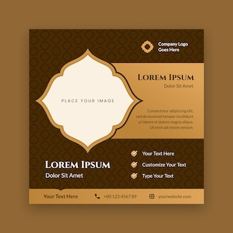 Modèle de médias sociaux affiche islamique
