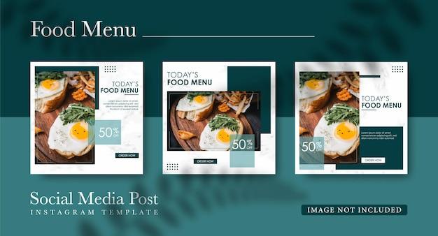 Modèle de médias sociaux alimentaires