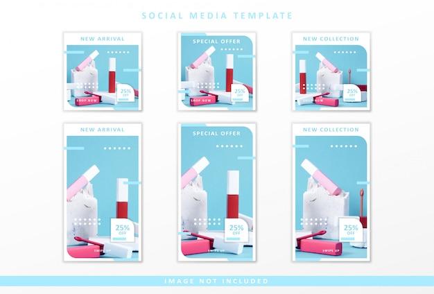 Modèle de médias sociaux cosmétiques