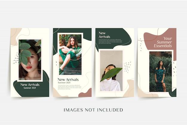 Modèle de médias sociaux fashion femme avec fond coloré