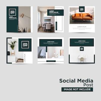 Modèle de médias sociaux de meubles