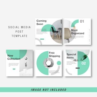 Modèle de médias sociaux minimaliste