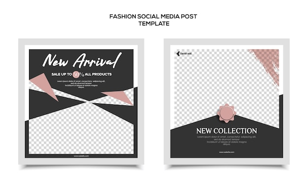 Modèle de médias sociaux de mode