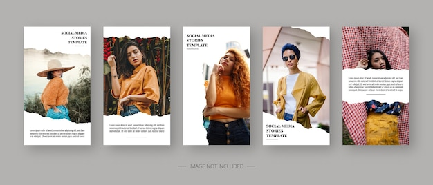 Modèle de médias sociaux. modèle d'histoires de médias sociaux modifiables à la mode. conception de modèle.