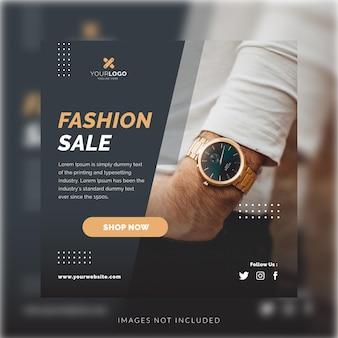 Modèle de médias sociaux de montres de vente de mode