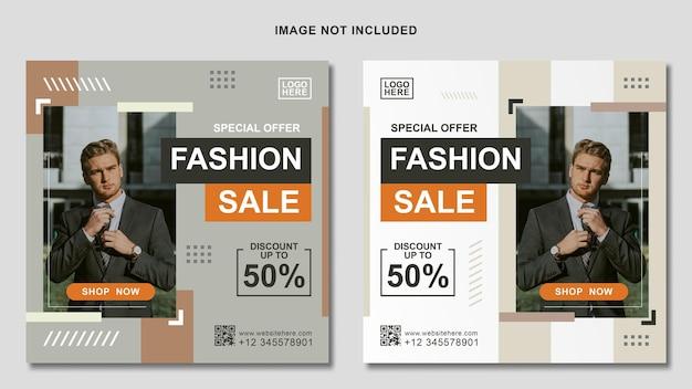 Modèle de médias sociaux pour la promotion de la vente de mode post instagram