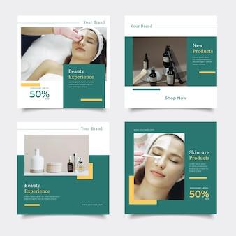 Modèle de médias sociaux promotion de soins de la peau de beauté