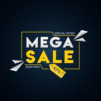 Modèle de méga vente avec offre de réduction de 40%