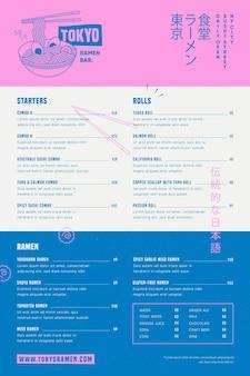 Modèle de menu alimentaire à usage numérique