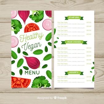 Modèle de menu d'aliments biologiques