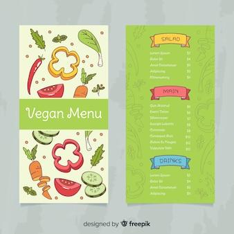 Modèle de menu des aliments frais