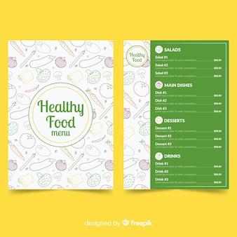 Modèle de menu des aliments sains