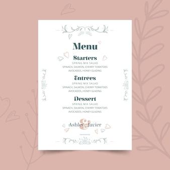 Modèle de menu anniversaire 25 ans