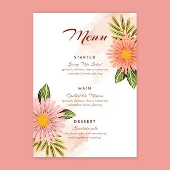 Modèle de menu anniversaire de mariage