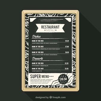 Modèle de menu sur ardoise