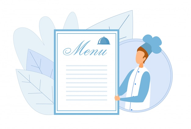 Modèle de menu de conseil sans chef tenant vide