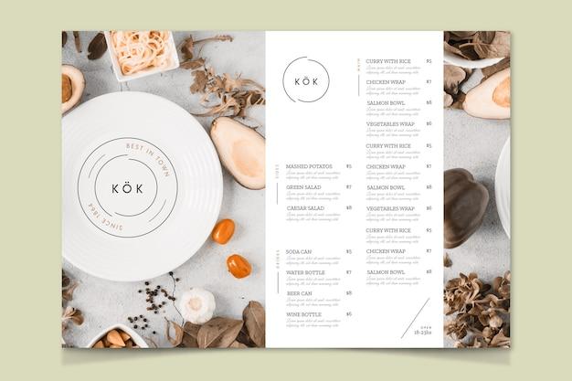 Modèle de menu du meilleur restaurant de la ville