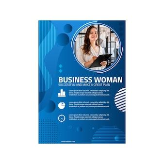 Modèle de menu de femme d'affaires